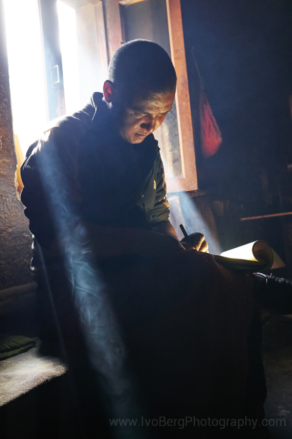 10 - Monk writing
